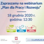 """Webinarium """"Plan dla Pracy i Rozwoju"""""""