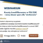"""Webinar """"Koszty kwalifikowane w PSI/SSE – nowy obszar sporu dla """"strefowców"""""""